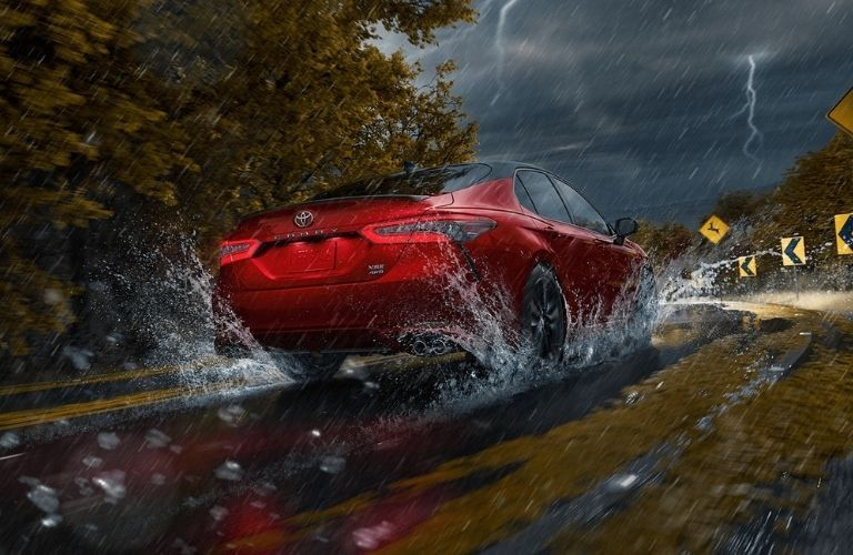 2021 Toyota Camry driving in rain
