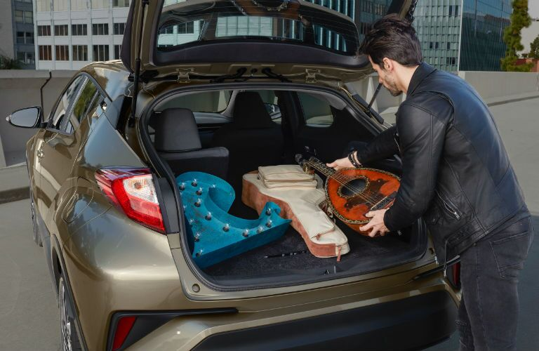 A photo of the cargo area in the back of the 2021 Toyota C-HR.