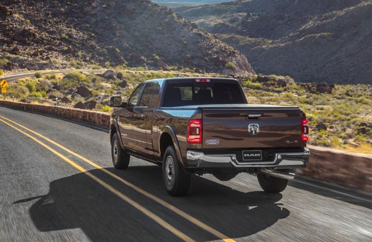 Brown 2020 Ram 2500 Rear Exterior on Highway