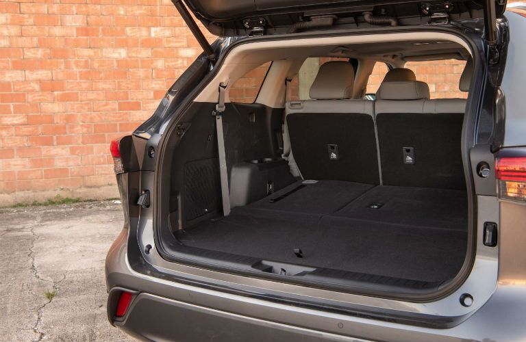 A photo of one of the cargo configurations in the 2021 Toyota Highlander.