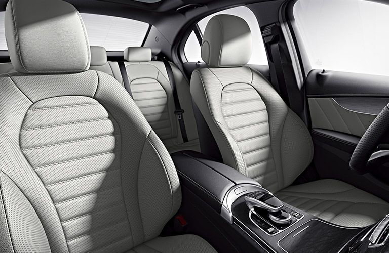 Front seats of the 2018 Mercedes-Benz C300 Sedan
