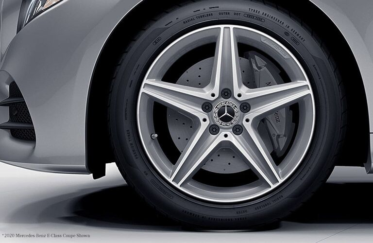 2021 MB E-CLass Coupe exterior close up of wheel