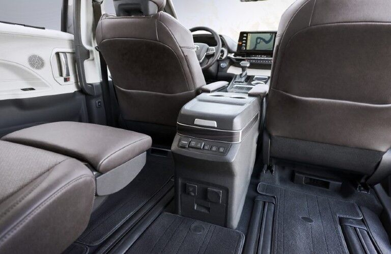 2021 Toyota Sienna with the second-row seats folded down