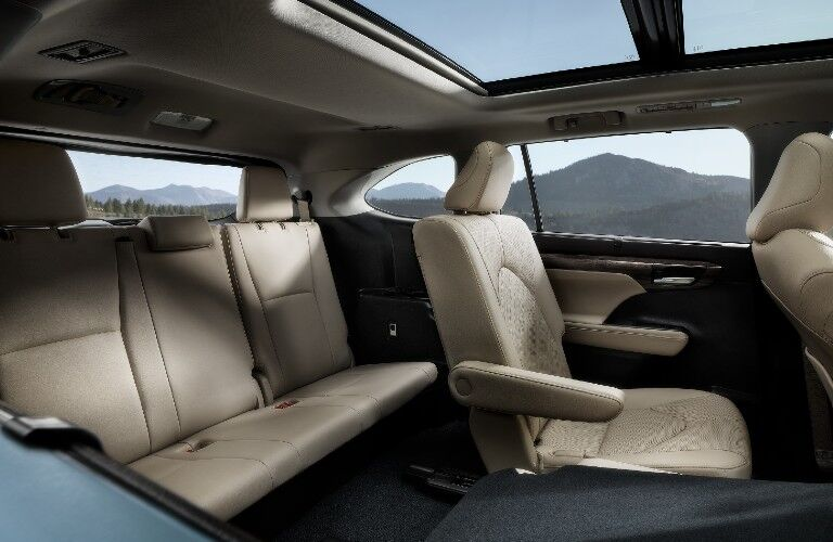 seating in the 2021 Toyota Highlander