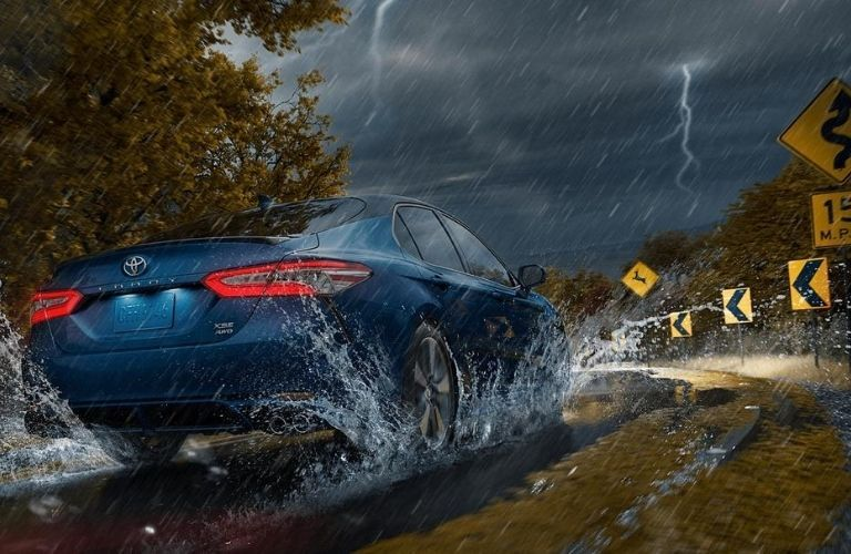 2020 Toyota Camry driving in storms