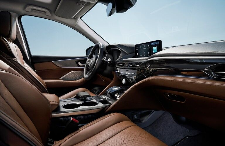A photo of the front seats in the 2022 Acura MDX.