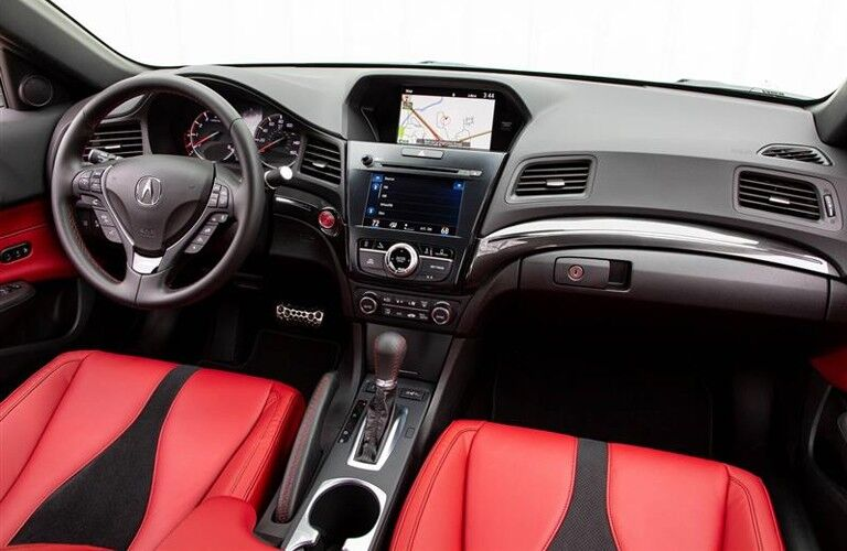 2020 Acura ILX interior front row red seats