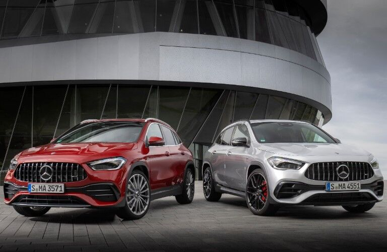 2021 Mercedes-Benz GLA models from front