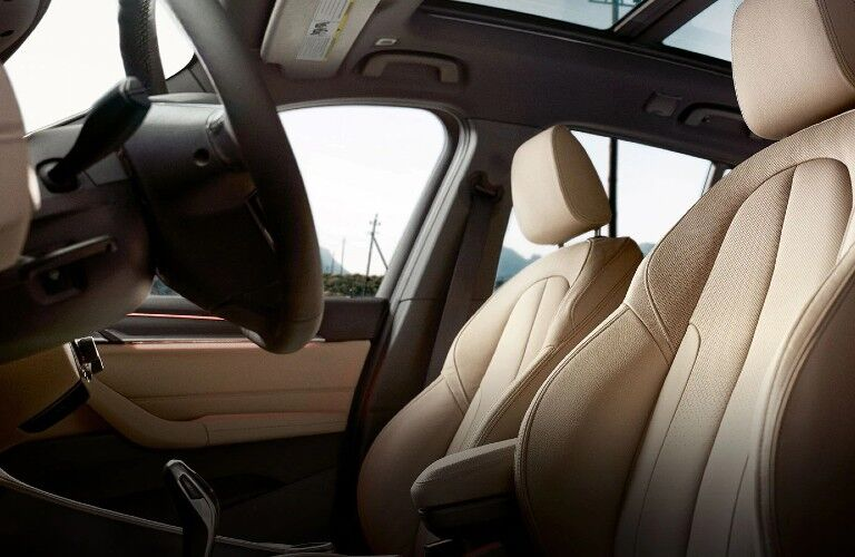 front seats in the 2020 BMW X1