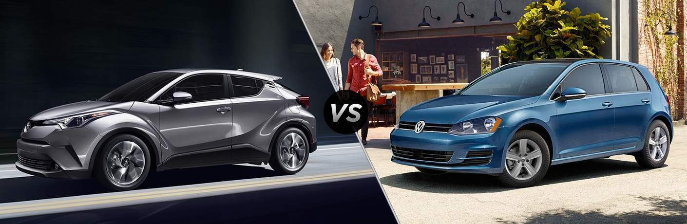 2018 Toyota C-HR vs 2017 VW Golf at Heritage Toyota