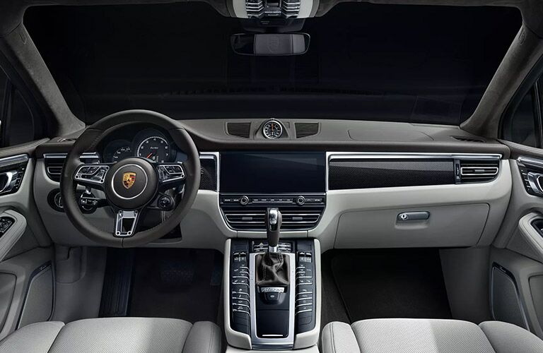 dashboard of the 2020 Porsche Macan