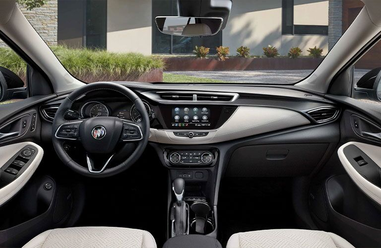 The front interior inside the 2021 Buick Encore.