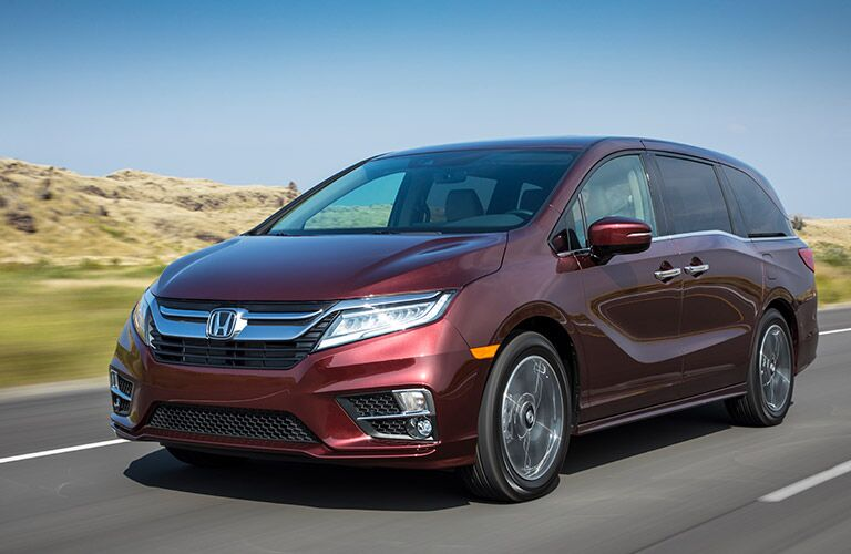 2019 Honda Odyssey driving on the road
