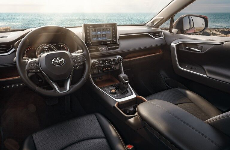Front interior inside the 2020 Toyota RAV4