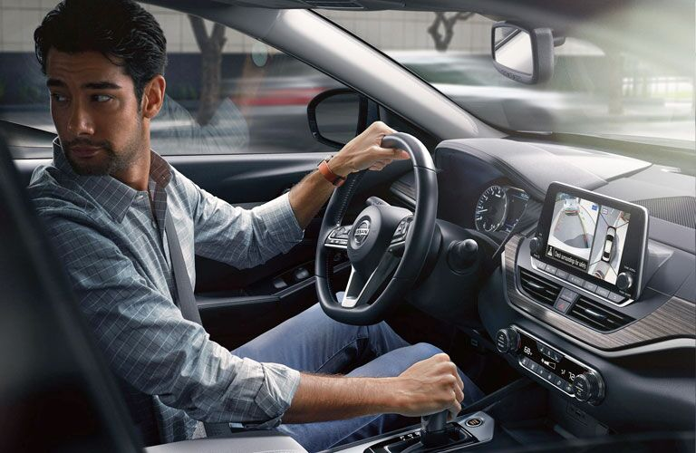 Man behind the wheel of the 2020 Nissan Altima