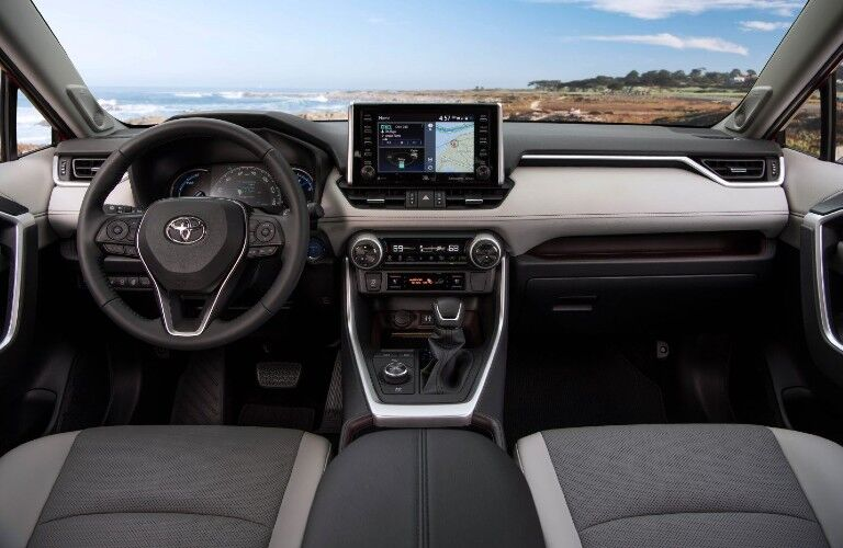 Interior front dash of the 2021 Toyota RAV4 Hybrid