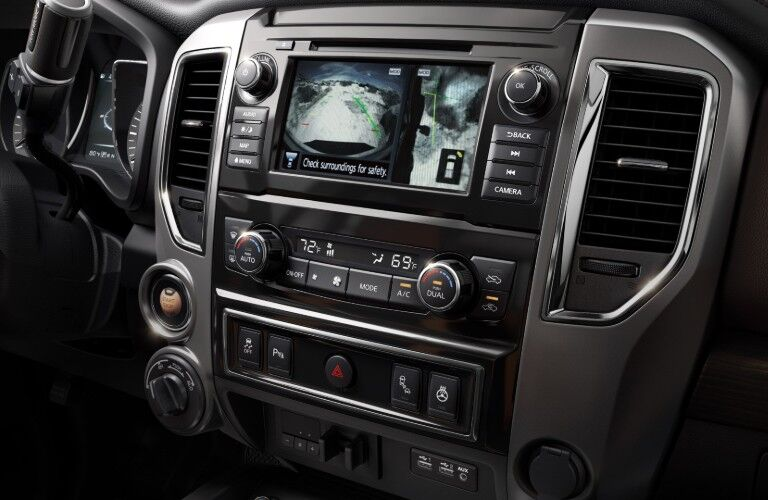 Close up of the display inside the 2019 Nissan TITAN