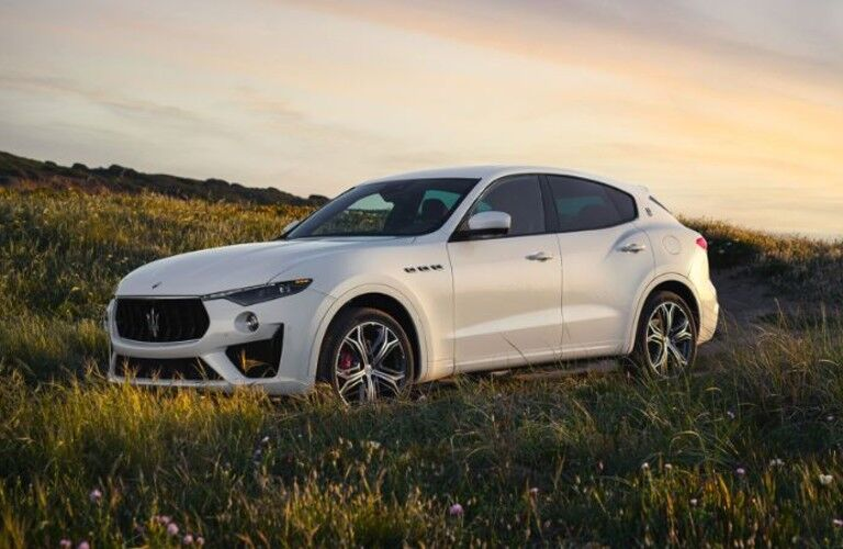 side view of the white 2020 Maserati Levante