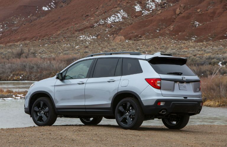 rear view of the 2021 Honda Passport
