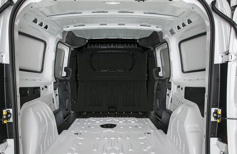 2020 RAM ProMaster City with doors open showing how much space there is for tools