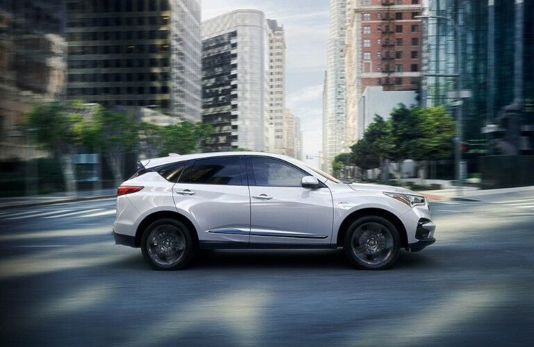 2020 Acura RDX white side view