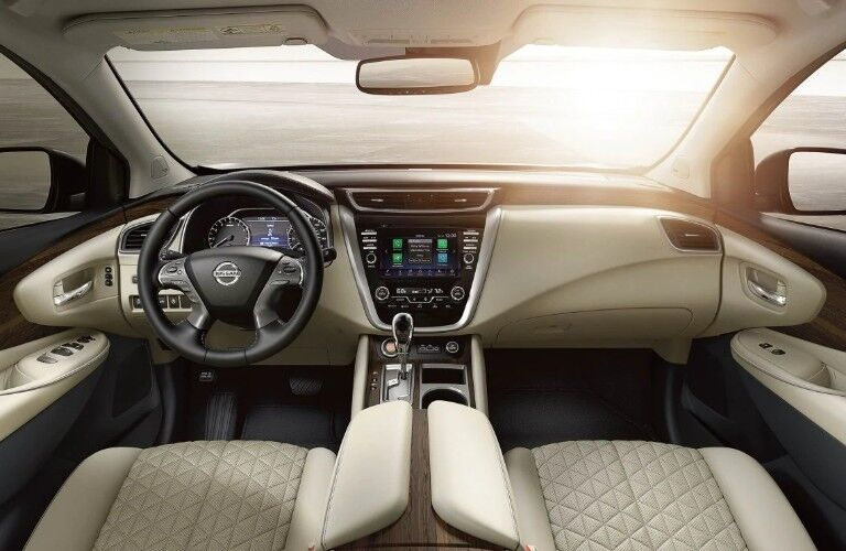 Front row interior inside the 2020 Nissan Murano