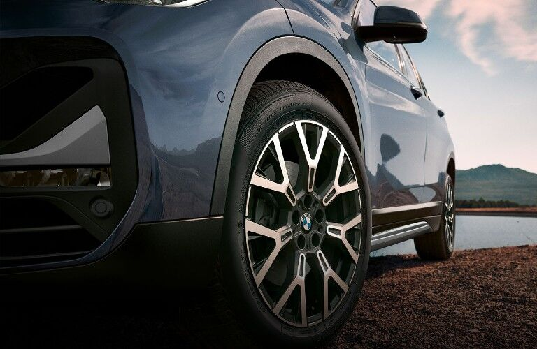 front wheel of the 2020 BMW X1