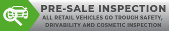 All vehicles are pre-sale inspected!