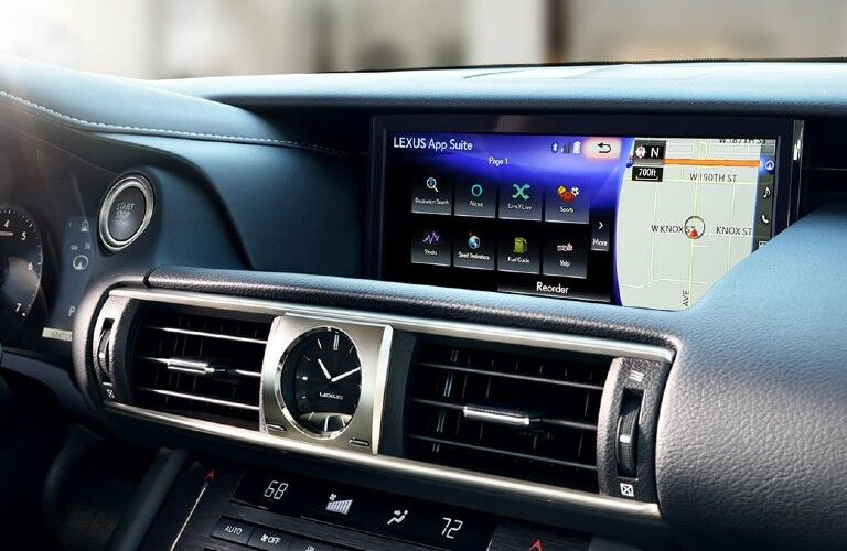 2021 Lexus IS entertainment display
