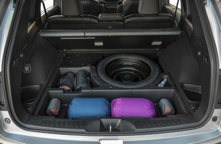 Underfloor storage in the cargo area of the 2020 Honda Passport