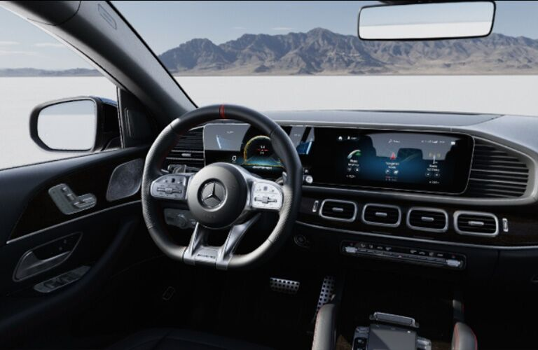 2021 MB GLE Coupe interior steering wheel touchscreen