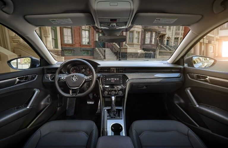 Front interior inside the 2020 Volkswagen Passat