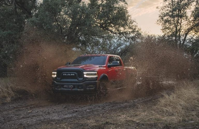2020 Ram 2500 in red