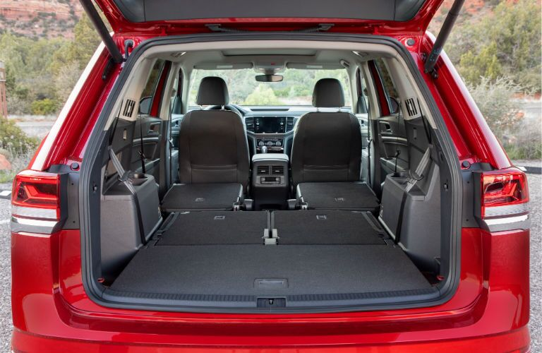 A photo of the cargo area in the 2021 VW Atlas.