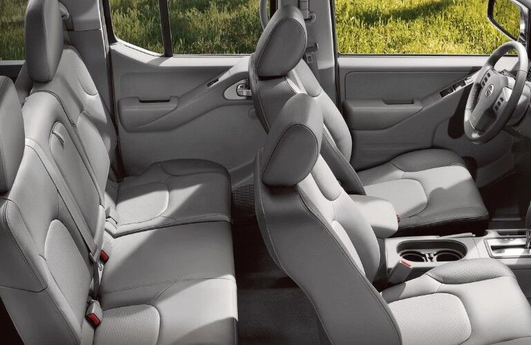 Passenger angle of the interior seats inside the 2019 Nissan Frontier