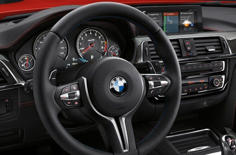 BMW coupe steering wheel