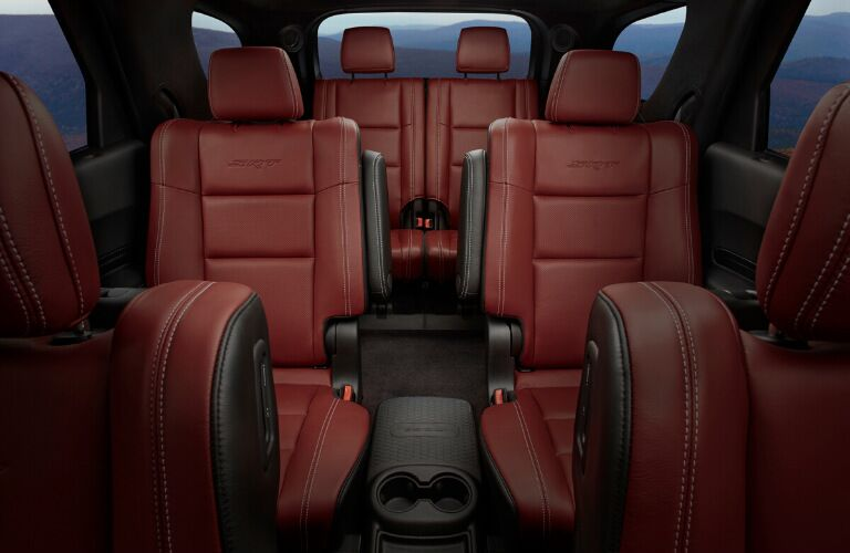 Second- and third-row leather seats of 2020 Dodgde Durango SRT