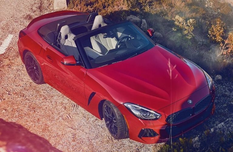 Exterior view of a red 2020 BMW Z4 Convertible