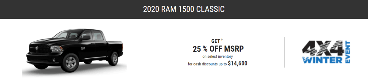Shop New RAM 1500 Classic Models