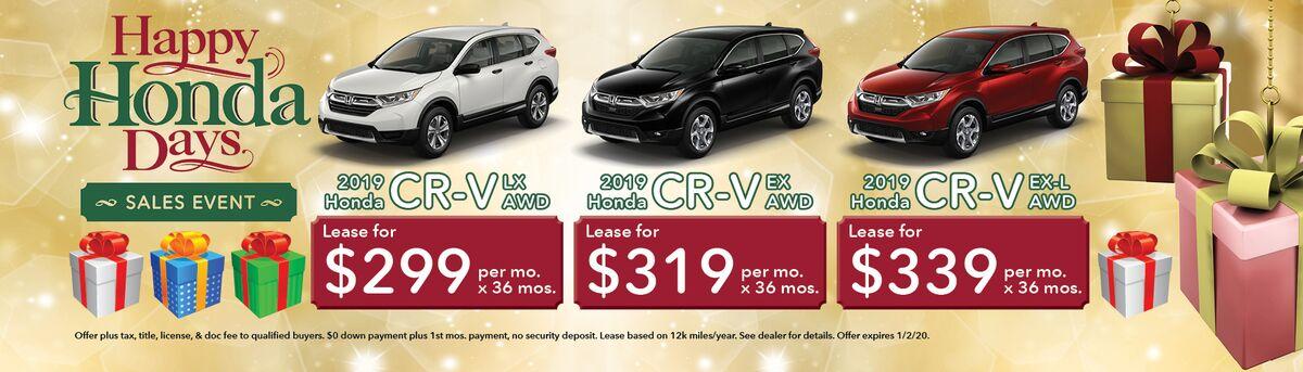 Honda CRV Sales Event