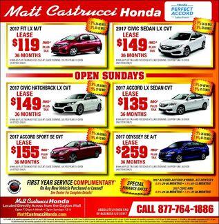 May Honda Deals