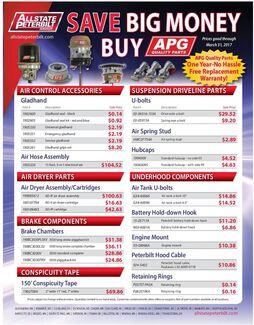 After Market Parts Specials Flyer
