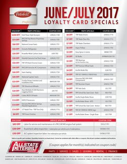 June/July 2017 Loyalty Card Special