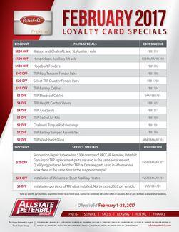Preferred Card Specials