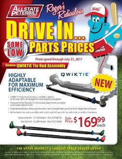 Roger's Ridiculous Parts Specials Flyer - June & July