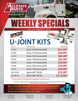 Weekly Parts Specials