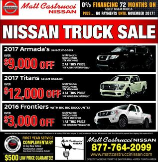 August Nissan Deals