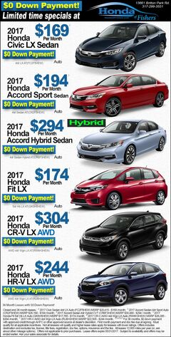New vehicles specials at Honda of Fishers