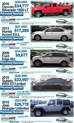 Pre-owned Specials!