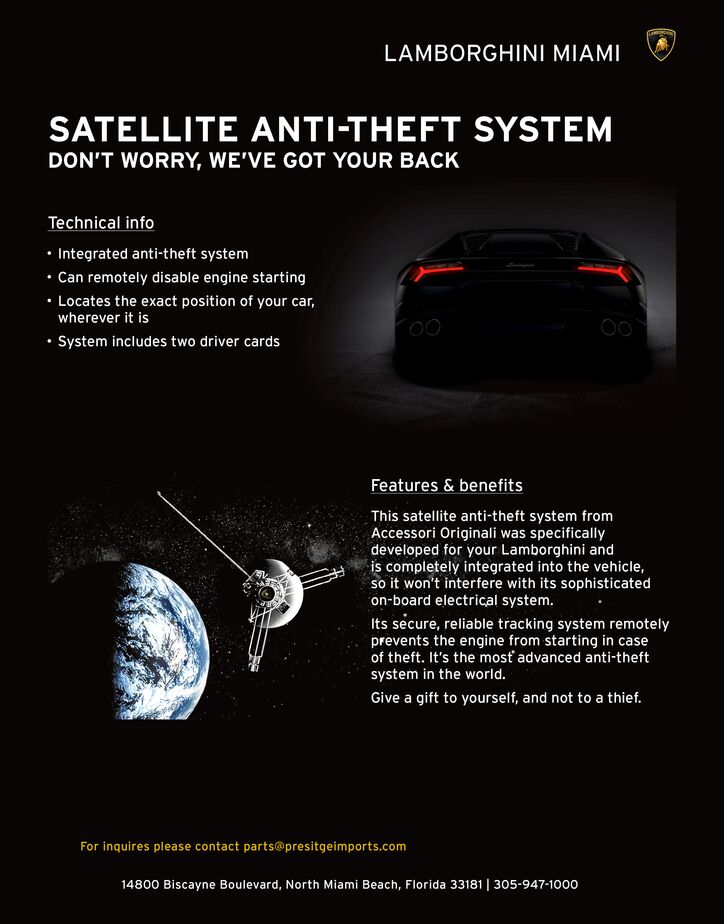 Satellite Anti-Theft System
